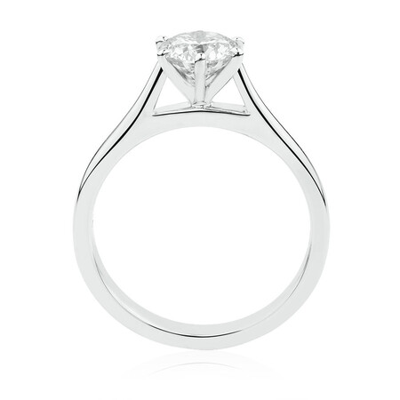 Solitaire Engagement Ring with a 1 Carat Diamond in 14ct White Gold