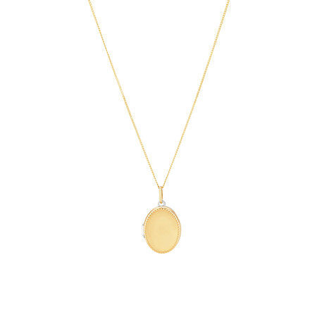 Oval Locket in 10ct Yellow Gold & Sterling Silver