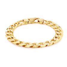 """23cm (9.5"""") Curb Bracelet in 10ct Yellow Gold"""