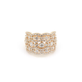 Ring with 2 Carat TW of Diamonds in 10ct Rose Gold