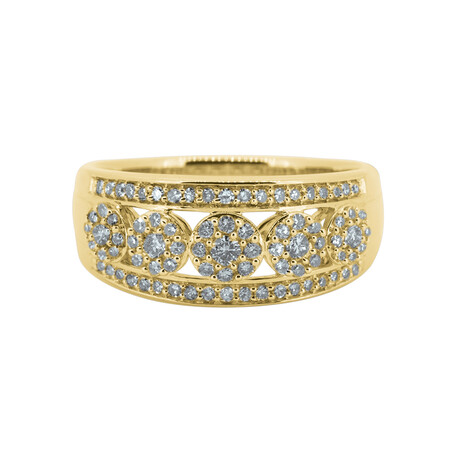 Ring with 0.50 Carat TW of Diamonds in 10ct Yellow Gold