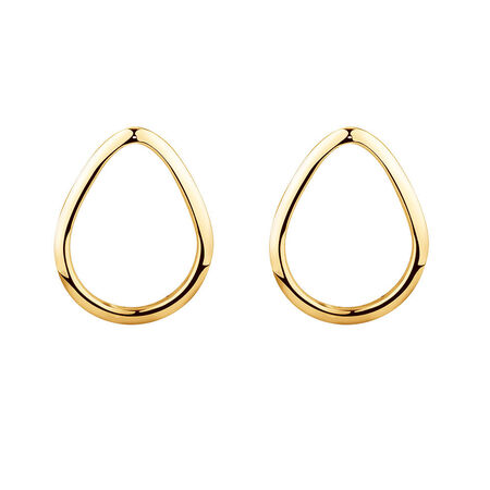 Open Pear Stud Earrings in 10ct Yellow Gold