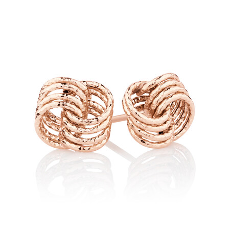 Stud Earrings in 10ct Rose Gold