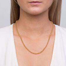 "50cm (20"") Hollow Belcher Chain in 10ct Yellow Gold"
