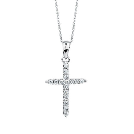 Pendant with 0.15 Carat TW of Diamonds in 10ct White Gold