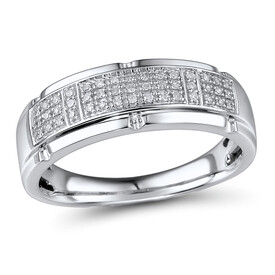 Ring with 0.13 Carat TW of Diamonds in 10ct White Gold