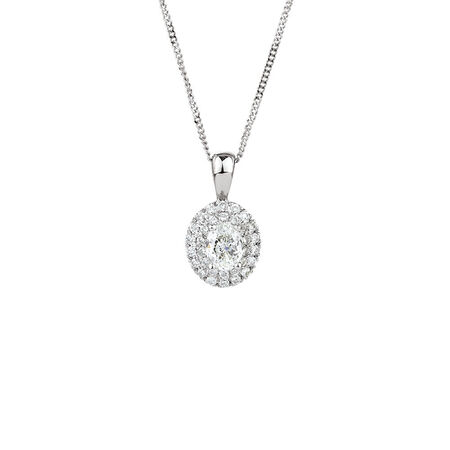 Pendant with 0.28 Carat TW of Diamonds in 10ct White Gold