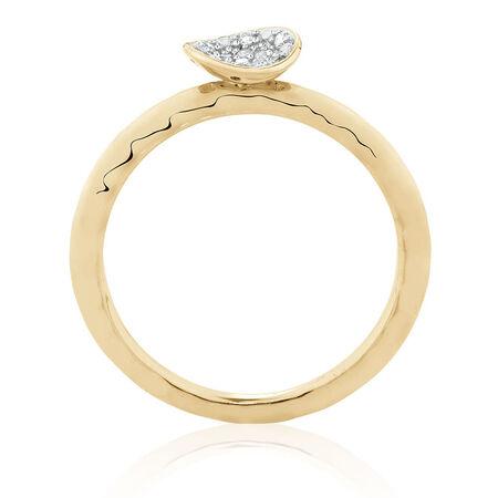 Diamond Set Ring in 10ct Yellow Gold