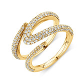 Mark Hill Ring with 1.09 Carat TW of Diamonds in 10ct Yellow Gold