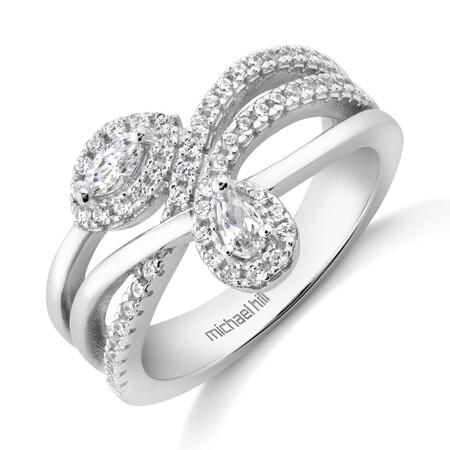 Fancy Ring with Cubic Zirconia in Sterling Silver