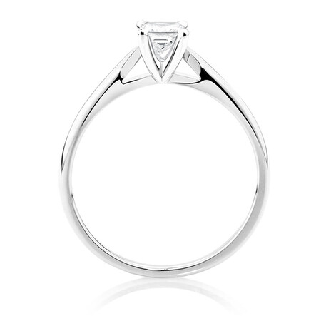 Evermore Solitaire Engagement Ring with a 1/3 Carat Diamond in 14ct White Gold