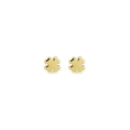 Clover Stud Earrings in 10ct Yellow Gold