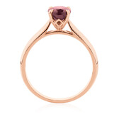 Oval Ring with Rhodalite Garnet in 10ct Rose Gold
