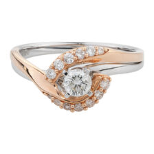 Online Exclusive - Engagement Ring with 1/2 Carat TW of Diamonds in 14ct White & Rose Gold