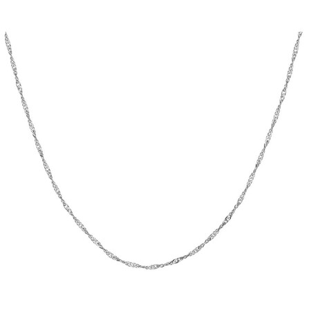 55cm Singapore Chain in 14ct White Gold