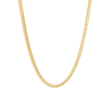"""45cm (18"""") Bevilled Chain in 10ct Yellow Gold"""