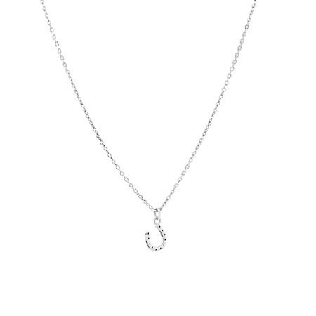 Mini Horseshoe Pendant in Sterling Silver