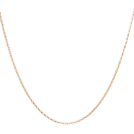 "45cm (18"") Solid Belcher Chain in 10ct Rose Gold"