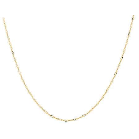 """50cm (20"""") Singapore Chain in 10ct Yellow Gold"""