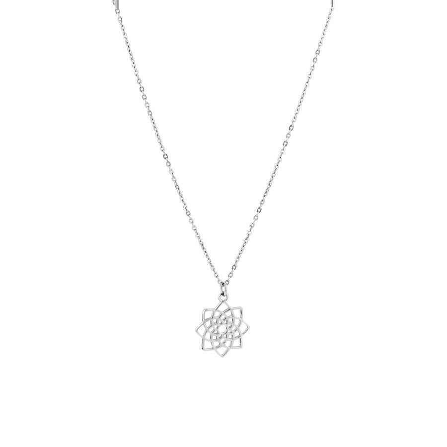 Lotus Flower Pendant in Sterling Silver