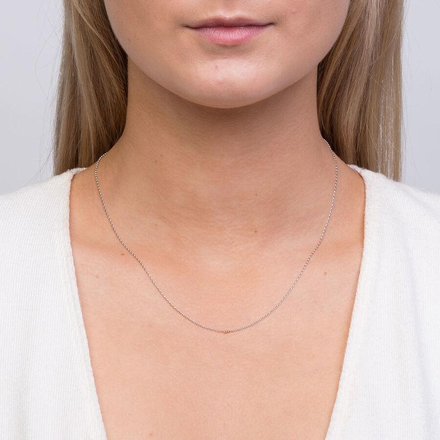 """45cm (18"""") Belcher Chain in 10ct White Gold"""