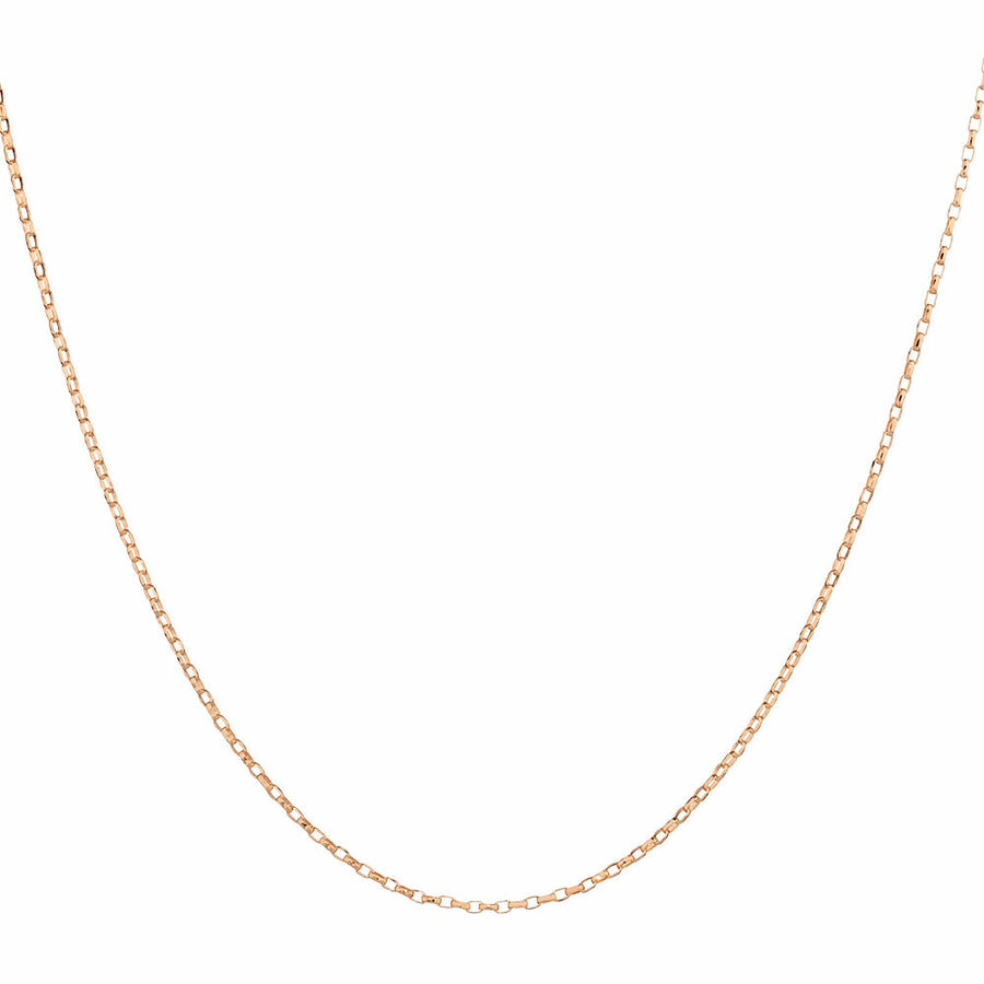 """45cm (18"""") Solid Belcher Chain in 10ct Rose Gold"""