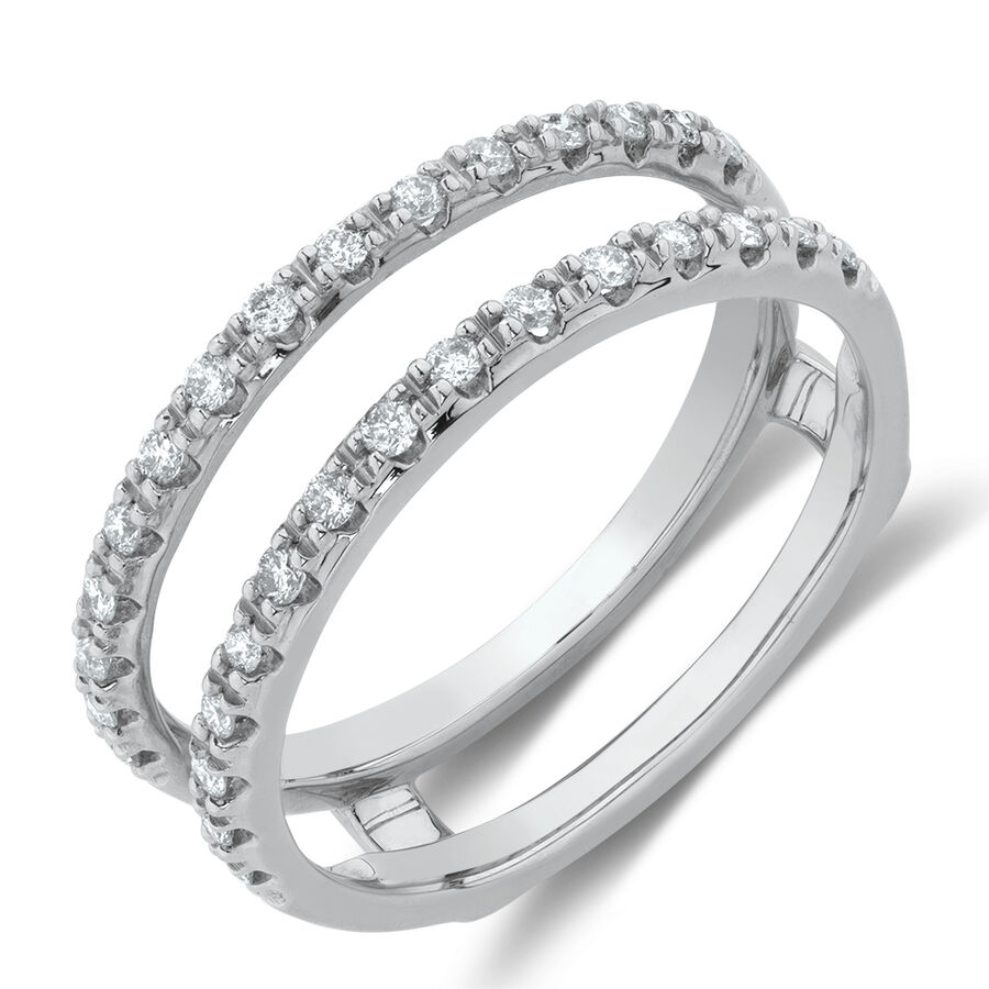 Enhancer Ring with1/4 CaratTW of Diamonds in 10ct White Gold