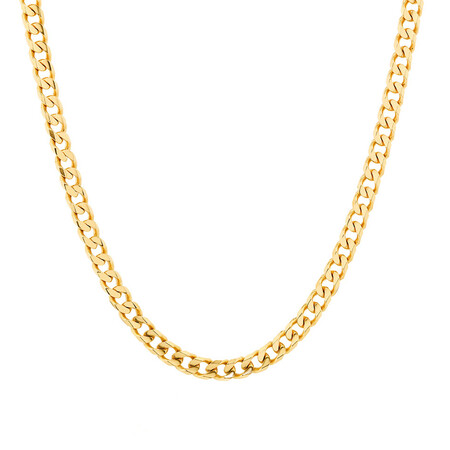 "55cm (22"") Solid Curb Chain in 10ct Yellow Gold"