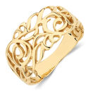 Filigree Ring in 10ct Yellow Gold
