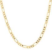 """55cm (22"""") Hollow Figaro Chain in 10ct Yellow Gold"""