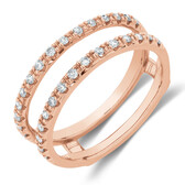 Enhancer Ring With 1/4 Carat TW Of Diamonds In 10ct Rose Gold