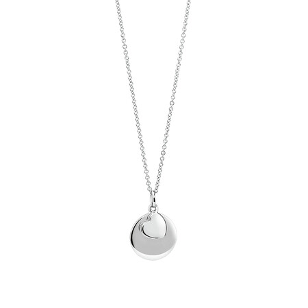 'P.S I Love You' Pendant In Sterling Silver