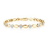 Bracelet with 1 Carat TW of Diamonds in 10ct Yellow Gold