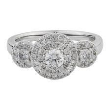 Online Exclusive - Engagement Ring with 0.95 Carat TW of Diamonds in 10ct White Gold