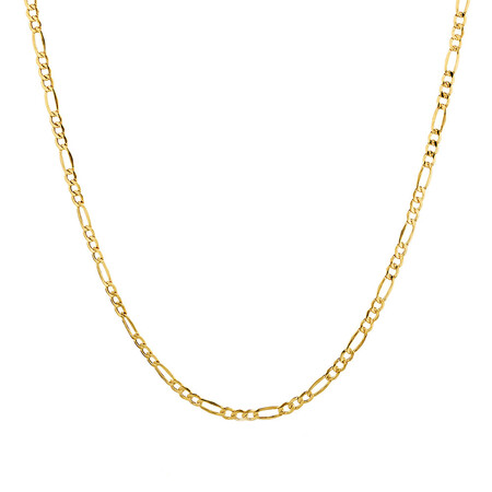 "50cm (20"") Hollow Figaro Chain in 10ct Yellow Gold"