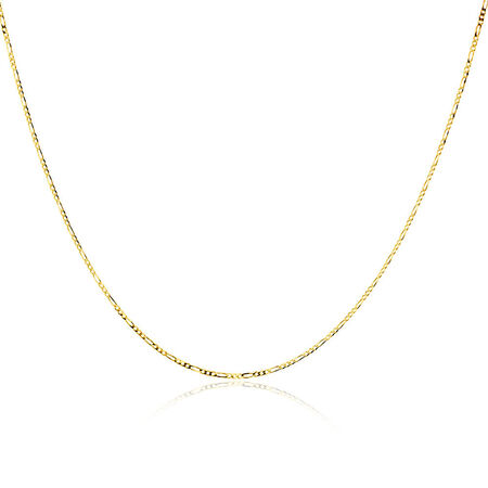 """50cm (20"""") Solid Figaro Chain in 10ct Yellow Gold"""