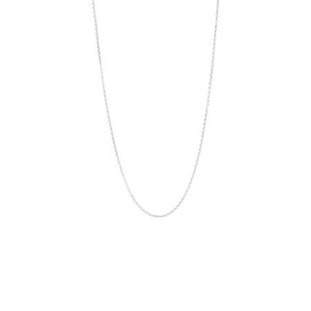 45cm Belcher Chain in 18ct White Gold