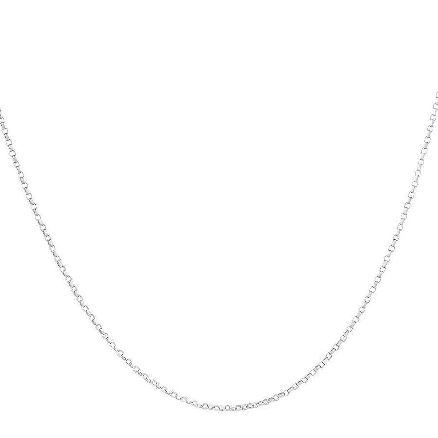 """55cm (22"""") Belcher Chain in 10ct White Gold"""