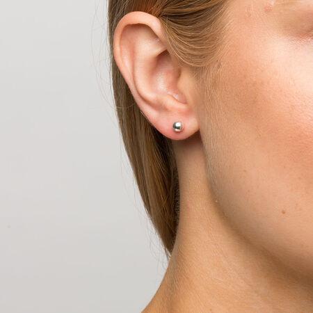 5mm Ball Stud Earrings in Sterling Silver