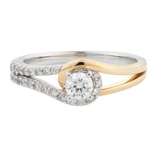 Online Exclusive - Engagement Ring with 1/2 Carat TW of Diamonds in 14ct White & Yellow Gold