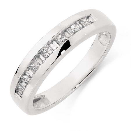 Online Exclusive - Men's Ring with 1/2 Carat TW of Diamonds in 10ct White Gold