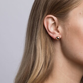 Patterned Ball Stud Earrings in 10ct Rose Gold