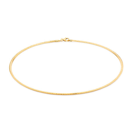 """45cm (18"""") Omega Chain in 10ct Yellow Gold"""