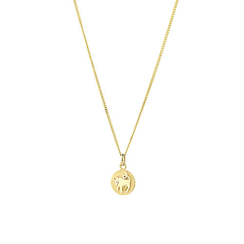 Taurus Zodiac Pendant in 10ct Yellow Gold