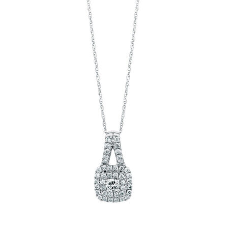 Michael Hill Designer Arpeggio Pendant with 1 Carat TW of Diamonds in 14ct White & Rose Gold