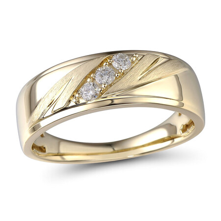 Ring with 0.17 Carat TW of Diamonds in 10ct Yellow Gold