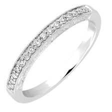 Wedding Band with 0.16 Carat TW of Diamonds in 14ct White Gold