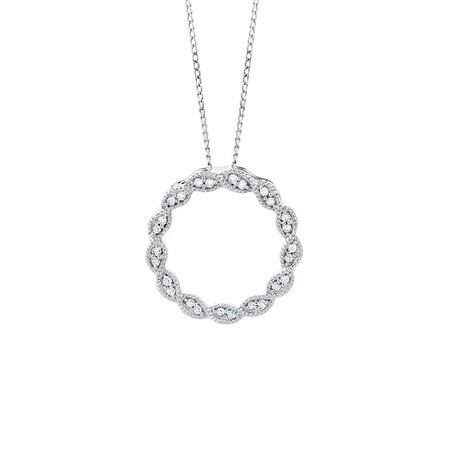 Pendant with 0.10 Carat TW of Diamonds in 10ct White Gold