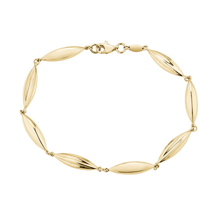 Beaded Bracelet in 10ct Yellow Gold