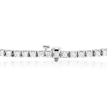 Tennis Bracelet with 3 Carat TW of Diamonds in 18ct White Gold
